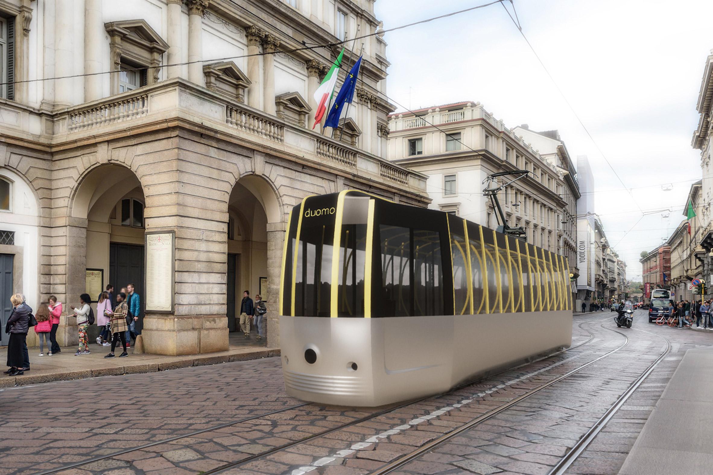 design tram milano